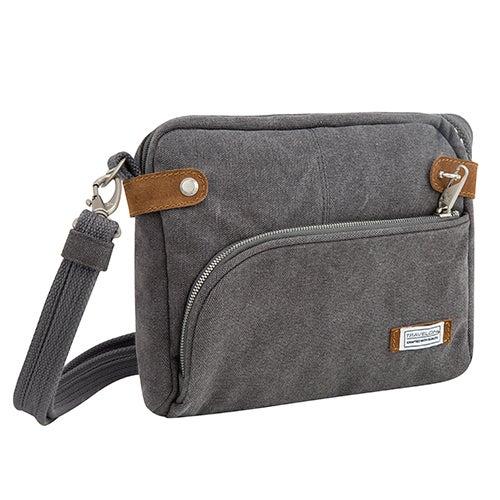 Anti-Theft Heritage Crossbody Bag, Pewter