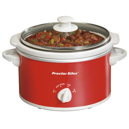1.5 Quart Portable Slow Cooker, Red