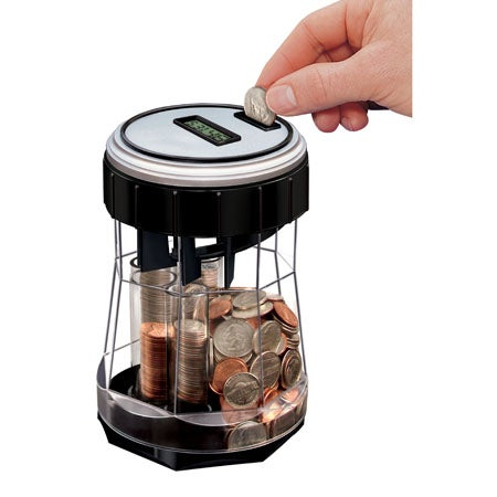 EZ-Count Money Jar Digital Coin Counter