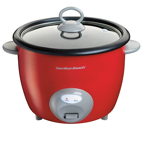 20-Cup Rice Cooker & Food Steamer, Red