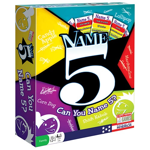 Name Five Board Game, Ages 12+ Years