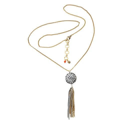 Openwork Tassel Necklace