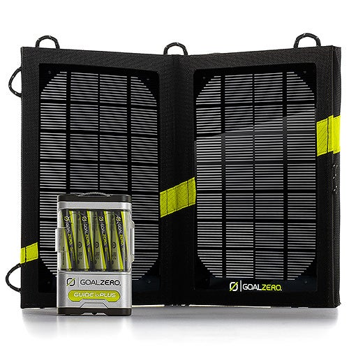 Guide 10 Plus Solar Recharging Kit, Black
