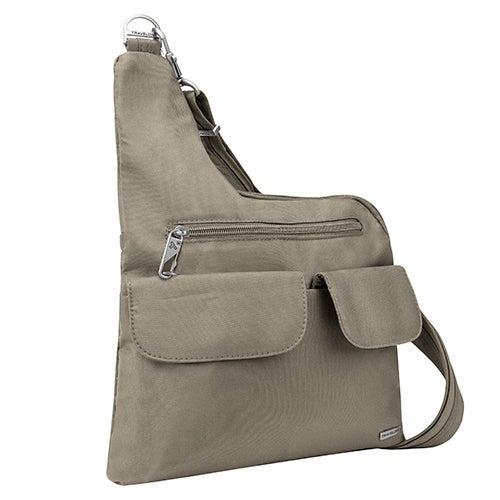 Anti-Theft Classic Crossbody Bag, Stone