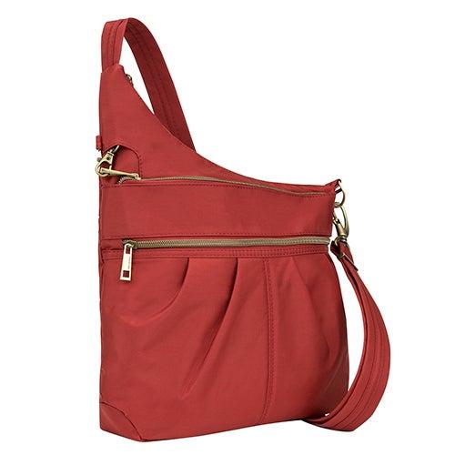 Anti-Theft Signature 3 Compartment Crossbody Bag, Cayenne