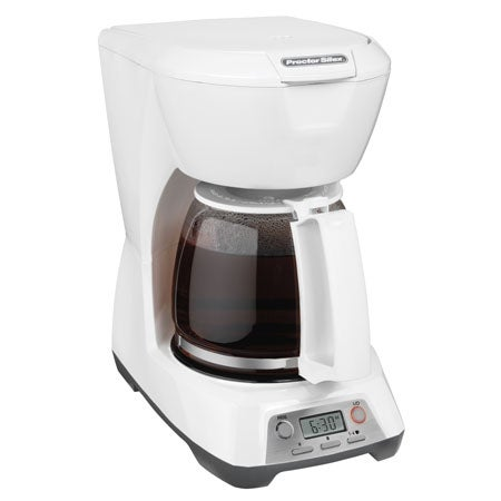 Programmable 12 Cup Coffeemaker, White