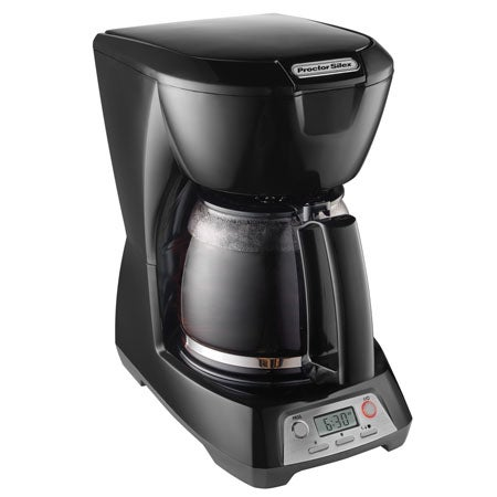 Programmable 12 Cup Coffeemaker, Black
