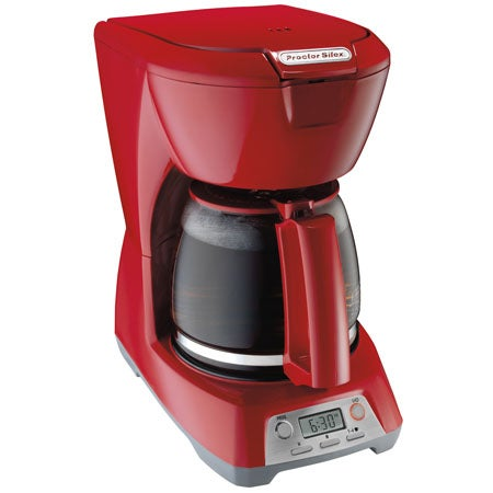 12 Cup Programmable Coffeemaker, Red