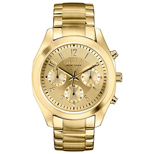 Ladies Gold Tone Stainless Steel Bracelet, Gold Dial