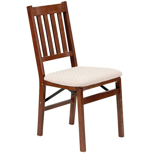 Set of 2 Arts and Craft Folding Chair, Cherry