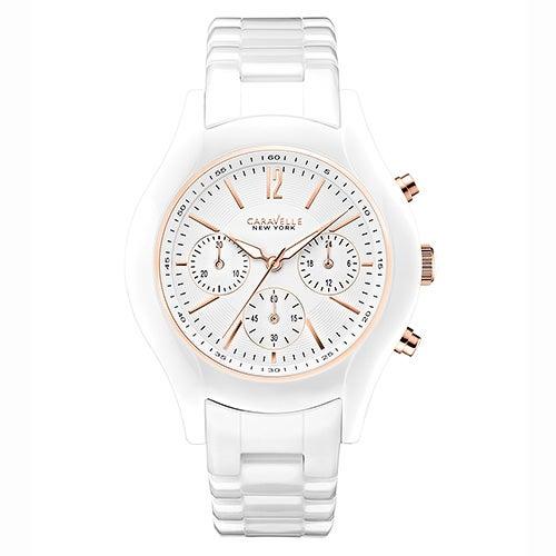 Ladies White Ceramic Watch, White Dial