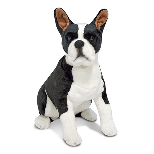Boston Terrier Dog Giant Stuffed Plush, Ages 3+ Years