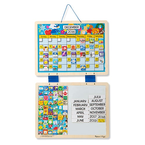 Monthly Magnetic Calendar, Ages 3+ Years