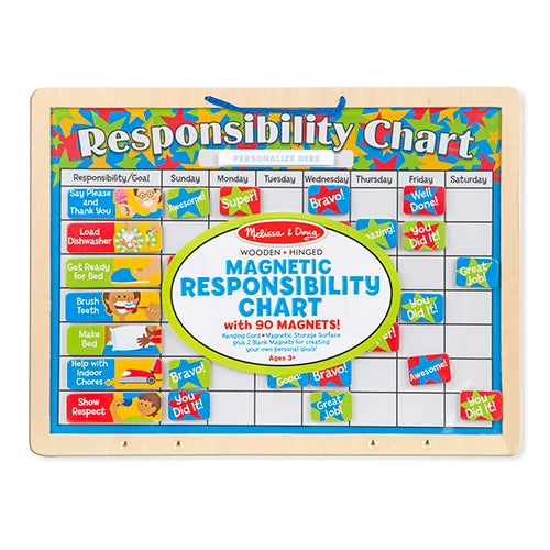 Magnetic Responsibility Chart, Ages 3+ Years