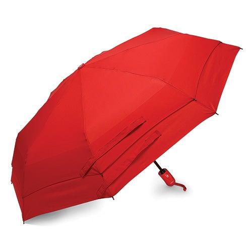 Windguard Auto Open/Close Umbrella, Red