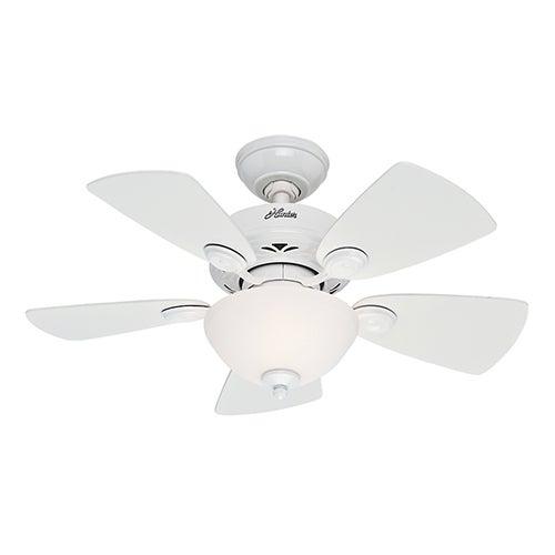 """Classic Watson 34"""" Ceiling Fan, White"""
