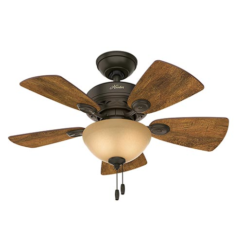 "Classic Watson 34"" Ceiling Fan, New Bronze Finish"