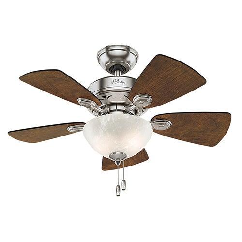 "Classic Watson 34"" Ceiling Fan, Brushed Nickel Finish"