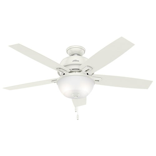"""Contemporary Donegan 52"""" Ceiling Fan, Fresh White Finish"""