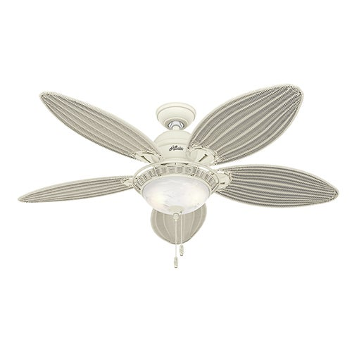 "Carribean Breeze 54"" Ceiling Fan, Textured White"