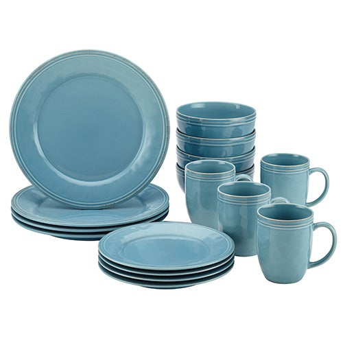 Cucina 16pc Dinnerware Set, Blue
