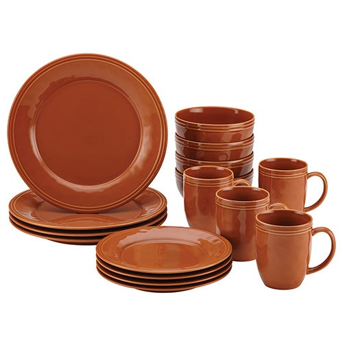 Cucina 16pc Dinnerware Set, Orange