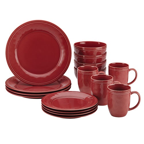 Cucina 16pc Dinnerware Set, Red