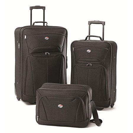 Fieldbrook II 3 Pc Luggage Set, Black