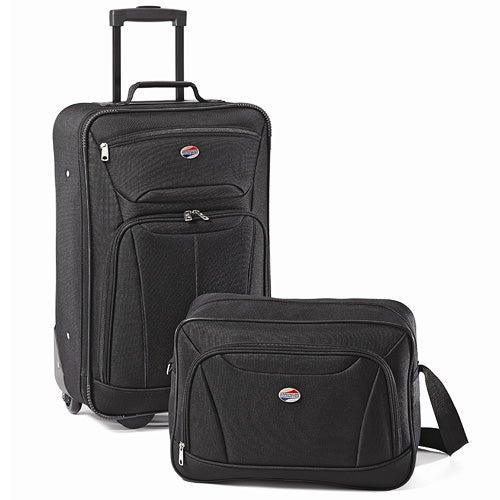 Fieldbrook II 2 Pc Luggage Set, Black
