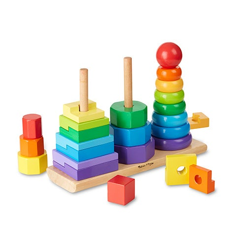 Geometric Stacker Toy, Ages 2-4 Years