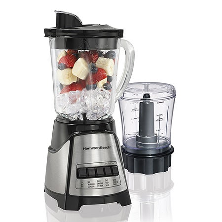 2-in-1 Blender and Chopper, Black-SS
