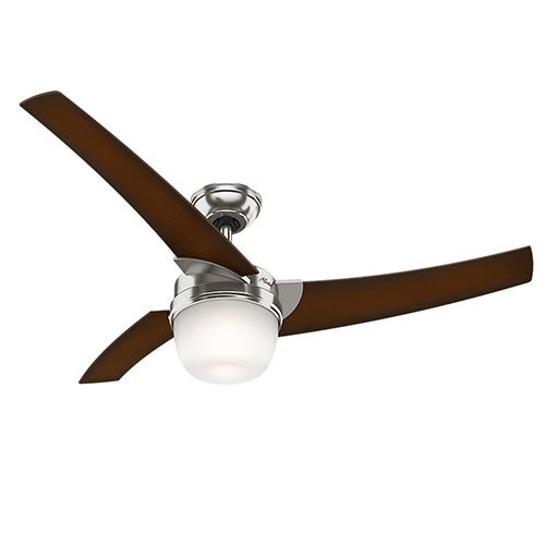 """Eurus 54"""" Contemporary Ceiling Fan, Brushed Nickel"""