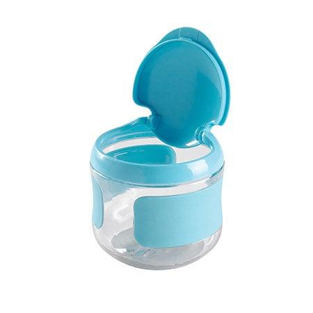 Tot Flip-Top Snack Cup, Aqua