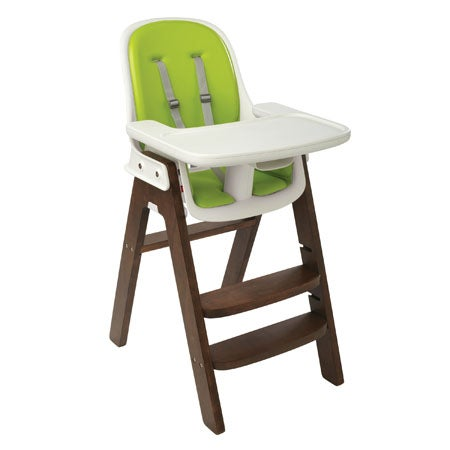 Sprout High Chair, Green/Walnut
