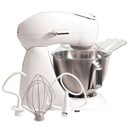 Eclectrics All-Metal Stand Mixer, White
