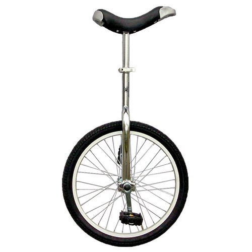 """Full Alloy 20"""" Unicycle, Silver"""