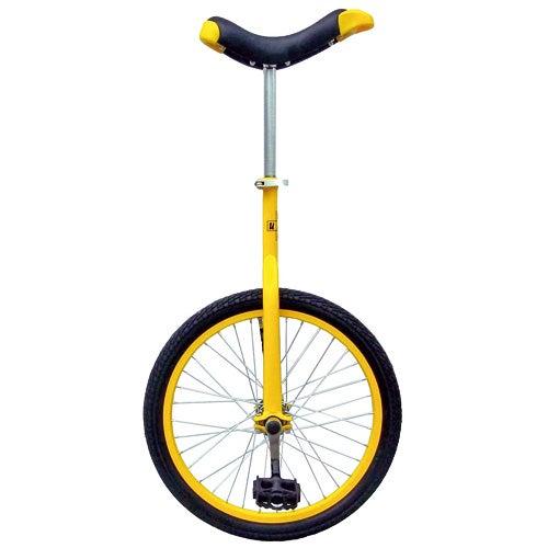 """Fun Full Alloy 20"""" Unicycle, Yellow"""