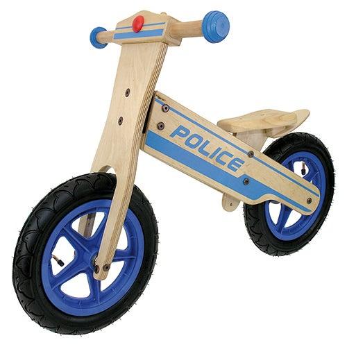 """Wooden 12"""" Police Balance Bike"""