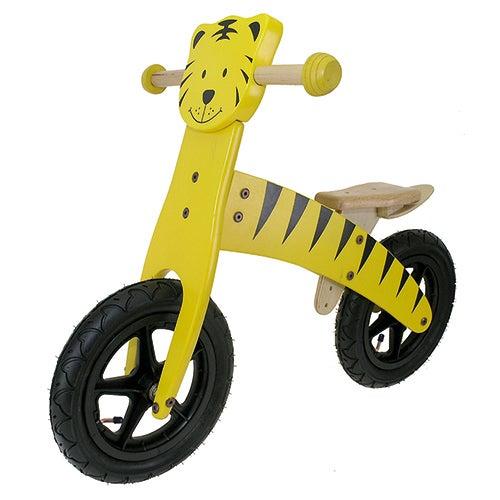 "Wooden 12"" Tiger Balance Bike"