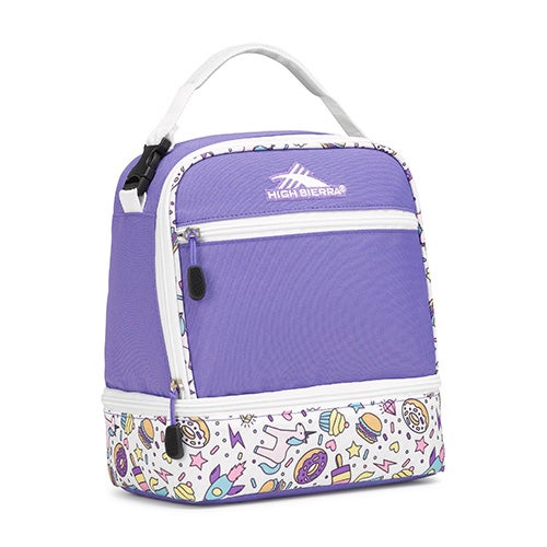 Stacked Compartment Lunch Pack, Sweet Cakes/Lavender