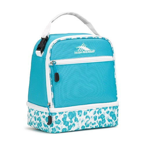 Stacked Compartment Lunch Pack, Tropic Teal/Tropic Leopard