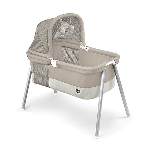 LullaGo Deluxe Portable Bassinet, Taupe