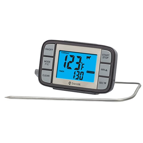 Grill Works Customizable Probe Thermometer & Timer