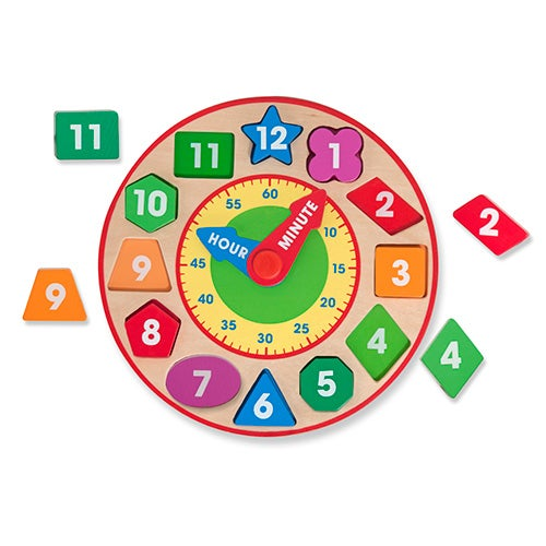 Shape Sorting Clock, Ages 3-6 Years