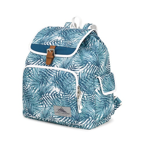Elly Backpack, Palms/Lagoon/White