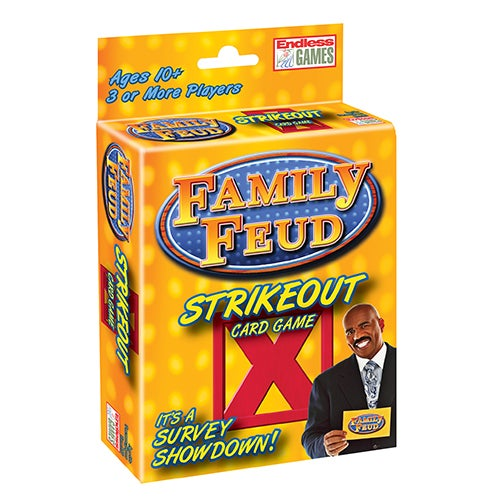 Family Feud Strike Out Card Game, Ages 10+ Years