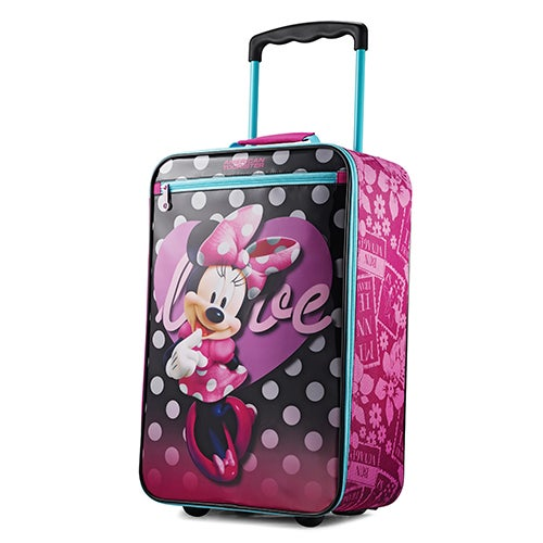 """Disney Minnie Mouse 18"""" Softside Upright Roller Bag"""