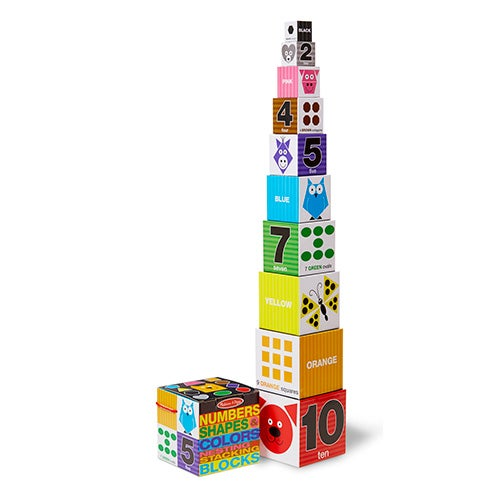 Nesting & Stacking Blocks - Numbers, Shapes, Colors, Ages 2-4 Years