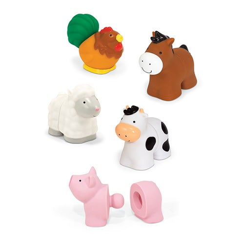 Pop Blocs Farm Animals Learning Toy, Ages 6+ Months