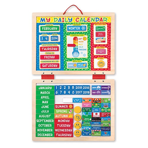 My Magnetic Daily Calendar, Ages 3-7 Years